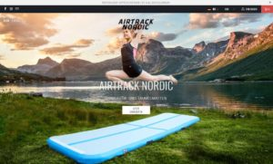 Airtrack Nordic Webseite